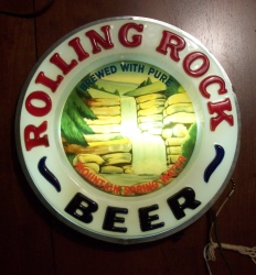 Rolling Rock Beer Waterfall Bar Lighted Sign beer sign collection My Beer Sign Collection 2 – Not for sale but can be bought… rollingrockbeerwaterfalllight