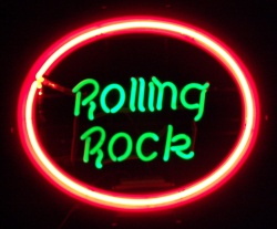 Rolling Rock Pink Neon Beer Bar Sign Light beer sign collection MY BEER SIGN COLLECTION 2 – Not for sale but can be bought… rollingrockpink