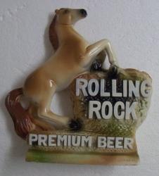 Rolling Rock Premium Beer Statue