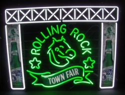 Rolling Rock Beer Town Fair Neon Sign