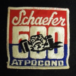 Schaefer 500 At Pocono Beer Uniform Patch