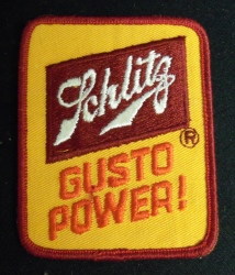 Schlitz Beer Gusto Power Uniform Patch