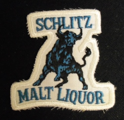 Schlitz Malt Liquor Bull Uniform Patch