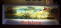 Schlitz Move Up to Beer Bar Vintage Lighted Sign beer sign collection MY BEER SIGN COLLECTION 2 – Not for sale but can be bought… schlitzmoveup1958light