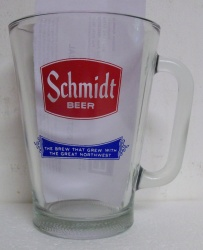 Schmidt Beer Bar Glass Pitcher