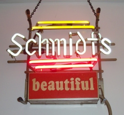 Schmidt's Beautiful Mini Neon Neer Bar Sign Light beer sign collection My Beer Sign Collection 2 – Not for sale but can be bought… schmidtsmini