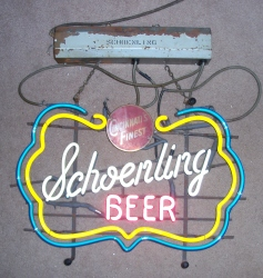 Schoenling Beer Neon Hanger Bar Sign Light beer sign collection MY BEER SIGN COLLECTION 2 – Not for sale but can be bought… schoenlingbeer