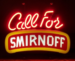 Smirnoff Vodka Neon Sign