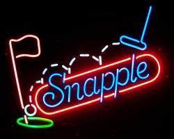 Snapple Golf Neon Sign