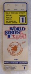 1984 World Series Baseball Ticket