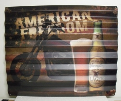 Yuengling Lager American Freedom Tin Sign beer sign collection My Beer Sign Collection 2 – Not for sale but can be bought… yuenglingamericanfreedomblindtin