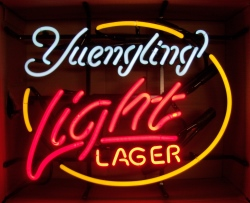 Yuengling Light Lager Neon Beer Bar Sign beer sign collection My Beer Sign Collection 2 – Not for sale but can be bought… yuenglinglightlager