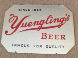 Yuengling's Beer Bar Mirror Sign my beer sign collection MY BEER SIGN COLLECTION 2 – Not for sale but can be bought… yuenglingsbeer