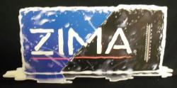 Zima Thermometer Beer Bar Tin Tacker Sign