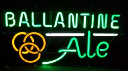 Ballantine Ale Neon Sign  MY BEER SIGN COLLECTION – Not for sale but can be bought… ballantineale3color