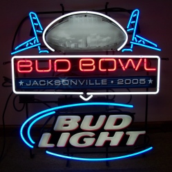 MY BEER SIGN COLLECTION – Not for sale but can be bought… budbowllight2005jacksonville