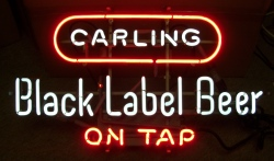 MY BEER SIGN COLLECTION – Not for sale but can be bought… carlingblacklabelbeerontap1969