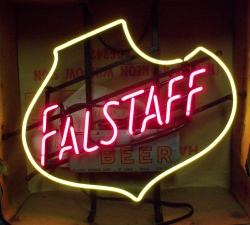 MY BEER SIGN COLLECTION – Not for sale but can be bought… falstaffbeermetalplate1960s