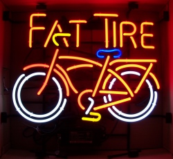 Fat Tire Beer Neon Sign  MY BEER SIGN COLLECTION – Not for sale but can be bought… fattire2015