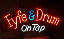 MY BEER SIGN COLLECTION – Not for sale but can be bought… fyfedrumontap