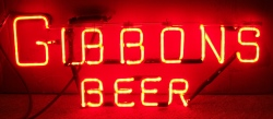 Gibbons Beer Neon Sign  MY BEER SIGN COLLECTION – Not for sale but can be bought… gibbonsbeerhanger