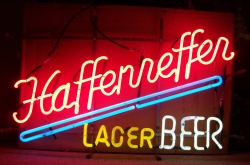 MY BEER SIGN COLLECTION – Not for sale but can be bought… haffenrefferlagerbeer