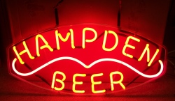 MY BEER SIGN COLLECTION – Not for sale but can be bought… hampdenbeerhanger