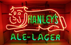 MY BEER SIGN COLLECTION – Not for sale but can be bought… hanleysalelagermounted