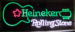 MY BEER SIGN COLLECTION – Not for sale but can be bought… heinekenrollingstoneguitar