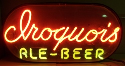 Iroquois Ale Beer Bubble Neon Sign beer sign collection My Beer Sign Collection 2 – Not for sale but can be bought… iroquoisalebeerbubble