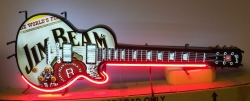 Jim Beam Whiskey Guitar Neon Sign beer sign collection My Beer Sign Collection 2 – Not for sale but can be bought… jimbeamguitar