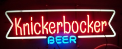 Knickerbocker Beer Neon Sign beer sign collection My Beer Sign Collection 2 – Not for sale but can be bought… knickerbockerbeerlong