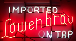 Lowenbrau Imported On Tap Neon Sign beer sign collection My Beer Sign Collection 2 – Not for sale but can be bought… lowenbrauontaphanger