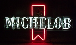 Michelob Beer Ribbon Neon Sign beer sign collection MY BEER SIGN COLLECTION 2 – Not for sale but can be bought… michelobrubyribbon1970