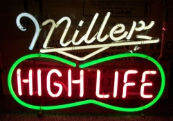 Miller High Life Beer Peanut Neon Sign beer sign collection MY BEER SIGN COLLECTION 2 – Not for sale but can be bought… millerhighlifepeanut