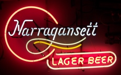 my beer sign collection MY BEER SIGN COLLECTION 2 – Not for sale but can be bought… narragansettlagerbeer