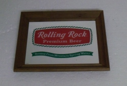 beer sign collection MY BEER SIGN COLLECTION 2 – Not for sale but can be bought… rollingrockpremiumbeer1981mirror