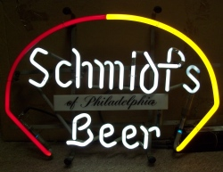 my beer sign collection MY BEER SIGN COLLECTION 2 – Not for sale but can be bought… schmidtsbeerredyellow