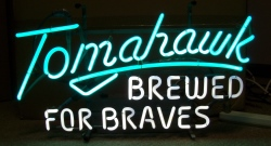 beer sign collection My Beer Sign Collection 2 – Not for sale but can be bought… tomahawkbrewedforbraves1968