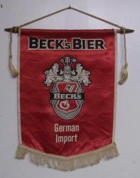Beck's Bier German Import Banner Sign Beck's Bier German Import Banner Sign becksbierbanner