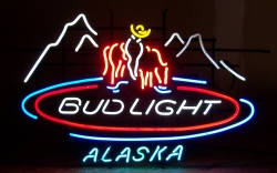 Bud Light Beer Alaska Neon Sign  MY BEER SIGN COLLECTION – Not for sale but can be bought… budlightalaska