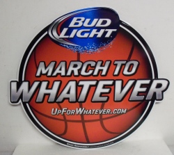 Bud Light Beer March Madness Tin Sign