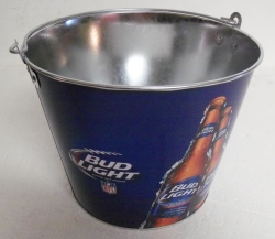 bud light nfl beer bar tin bucket Bud Light NFL Beer Bar Tin Bucket budlightnflbucket