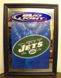 Bud Light Nfl Ny Jets Beer Bar Mirror