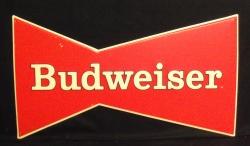 Budweiser Beer Bowtie Tin Sign