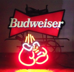 Budweiser Beer Boxing Neon Sign