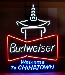 Budweiser Beer Chinatown Neon Sign
