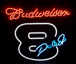 Budweiser Beer NASCAR Earnhardt Neon Sign