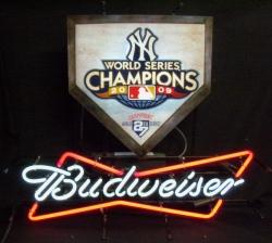 Budweiser Ny Yankees World Series Neon Beer Bar Sign Light