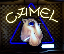 Camel Cigarettes Neon Sign  MY BEER SIGN COLLECTION – Not for sale but can be bought… cameljoe